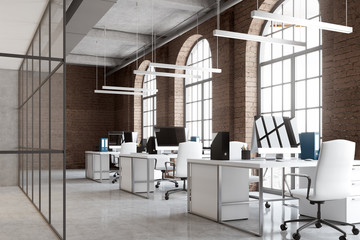 Modern office space with re-upholstery